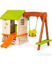 Smoby Игровой домик с горкой и качелями (810601)
