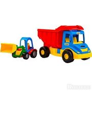 WADER Грузовик с трактором (синий-красный), (39219-2)
