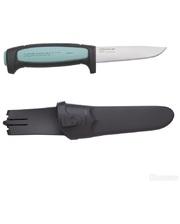 Morakniv Flex, нержавеющая сталь, резиновая ручка со светло-синей вставкой
