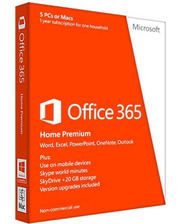 Microsoft Office365 Home Prem 32/64 Russian Subscr 1YR Medialess (6GQ-00177)
