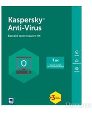 Kaspersky Lab Anti-Virus 1 Desktop 1 year + 3 mon. Base Box (KL1171OUABS17)