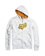 FOX Ando Zip Front Fleece White M