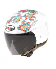 Шлемы Suomy HELMET LIGHT COCCO FLOWER White M фото