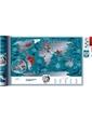 Скретч-карта мира Travel Map Marine World