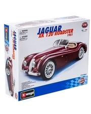 BBURAGO Jaguar XK 120 Roadster (1948) (вишневый, 1:24)