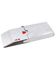 КНР Карты игральные с пластиковым покрытием SILVER 100 DOLLAR IG-4566-S