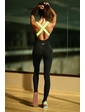 Designed For Fitness Dark Night with Green - XS