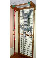 Гладиаторская сетка из бука 210 см с турником и веревочным комплектом