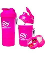Smart Shake Шейкер 3-х камерный SmartShake Original 600 мл neon pink