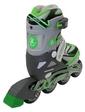 ZLT Коньки роликовые раздвижные ZEL Z-5104GRG Candy серо-зеленые - 31-34