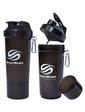 Smart Shake Шейкер 2-х камерный SmartShake Slim 500 мл gunsmoke black