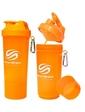 Smart Shake Шейкер 2-х камерный SmartShake Slim 500 мл neon orange