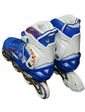 ZLT Роликовые коньки раздвижные ZEL Z-096B (р-р 30-33, 34-37, 38-41) HEARTFUL (PL, PVC, колесо PU, алюм. рама, синий)