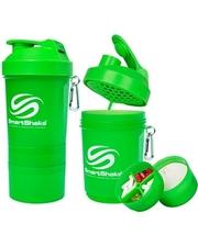 Smart Shake Шейкер 3-х камерный SmartShake Original 600 мл neon green