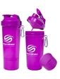 Smart Shake Шейкер 2-х камерный SmartShake Slim 500 мл neon purple
