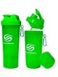 Smart Shake Шейкер 2-х камерный SmartShake Slim 500 мл neon green