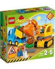Лего LEGO Конструктор Грузовик и экскаватор на гусеничном ходу, 10812