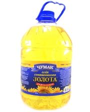 Чумак Масло подсолнечное рафинированное дезодорированное, 5 л