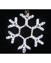 Delux Motif Snowflake 40см (белый) IP44