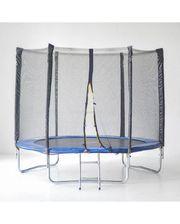 Hop-Sport SJ 4.5ft (140cm) blue с внешней сеткой