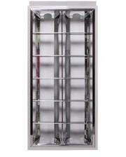 E.NEXT Светильник люминесцентный растровый, 2х20W (встраиваемый)